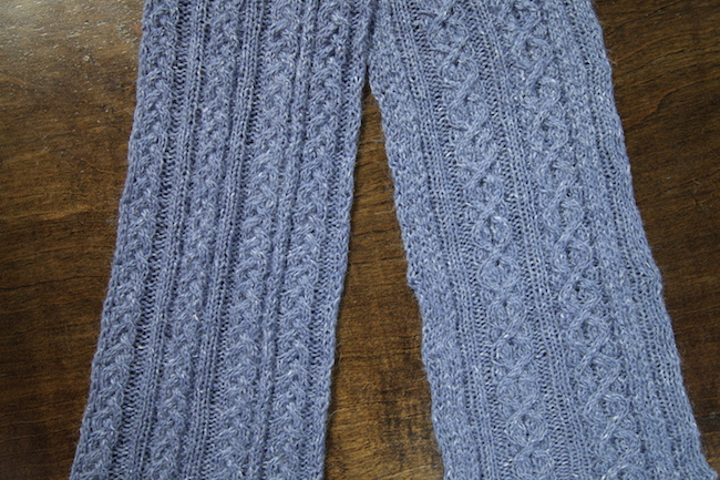 reversible stitch scarf