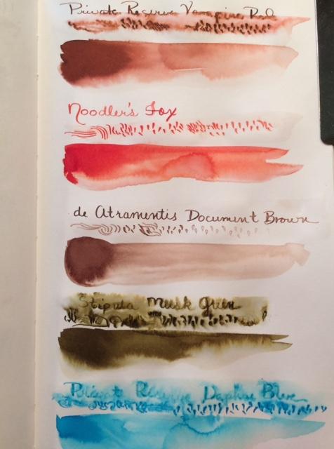 Four color ink test