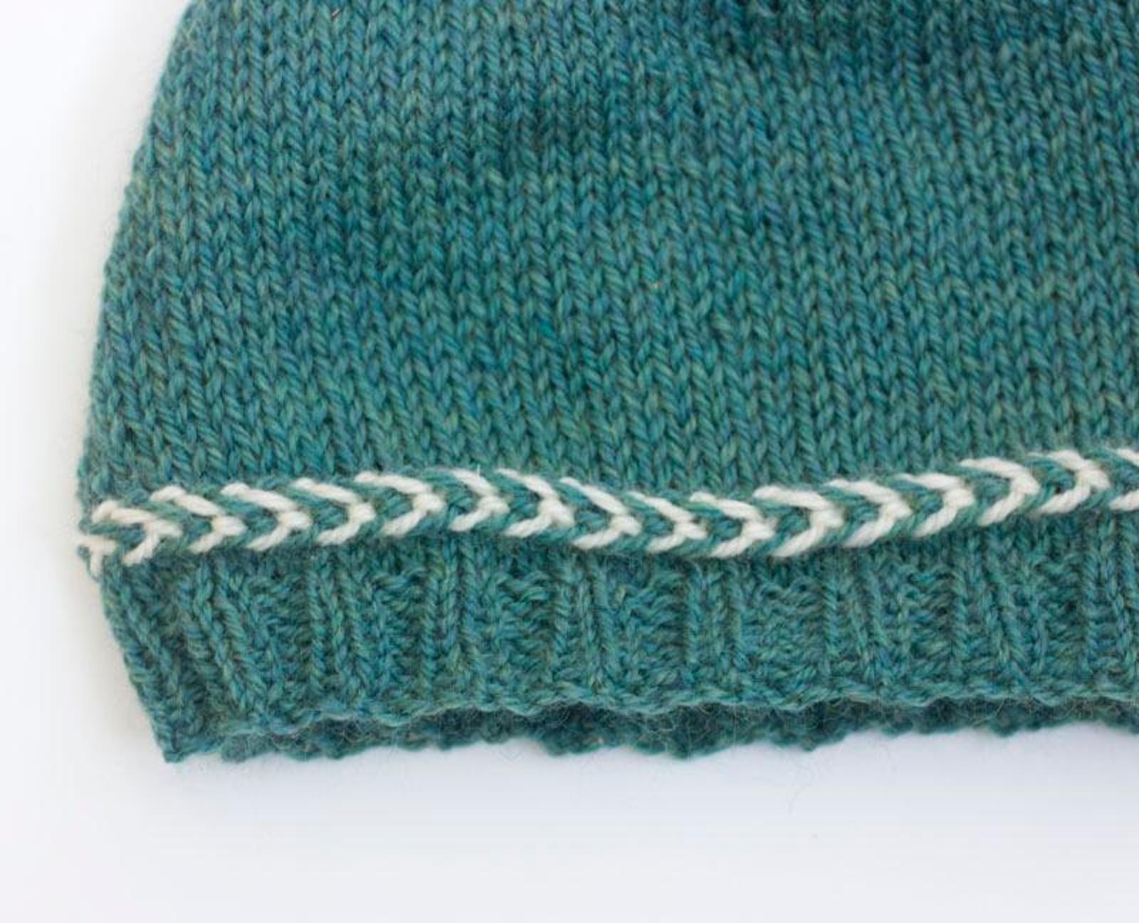 Latvian Braid Hat Knitting Pattern