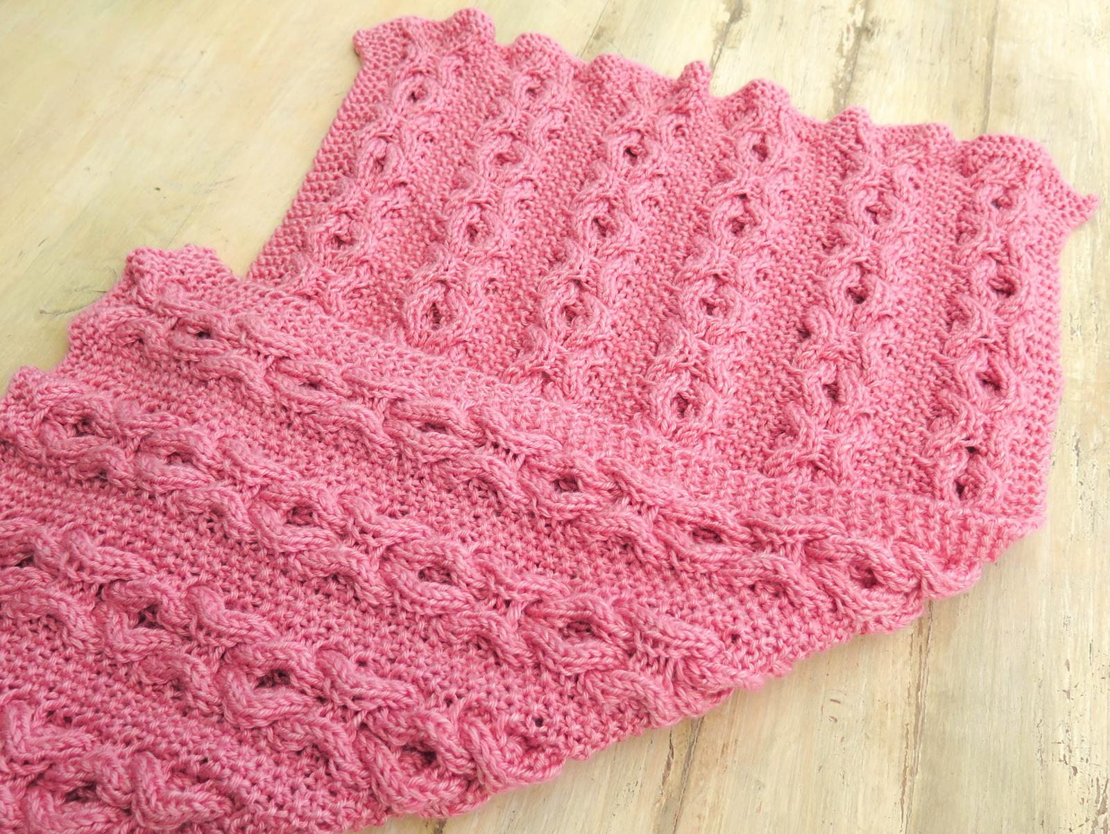 Hugs and Kisses Cable Baby Blanket