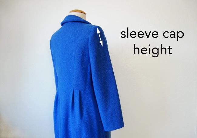blue coat sleeve
