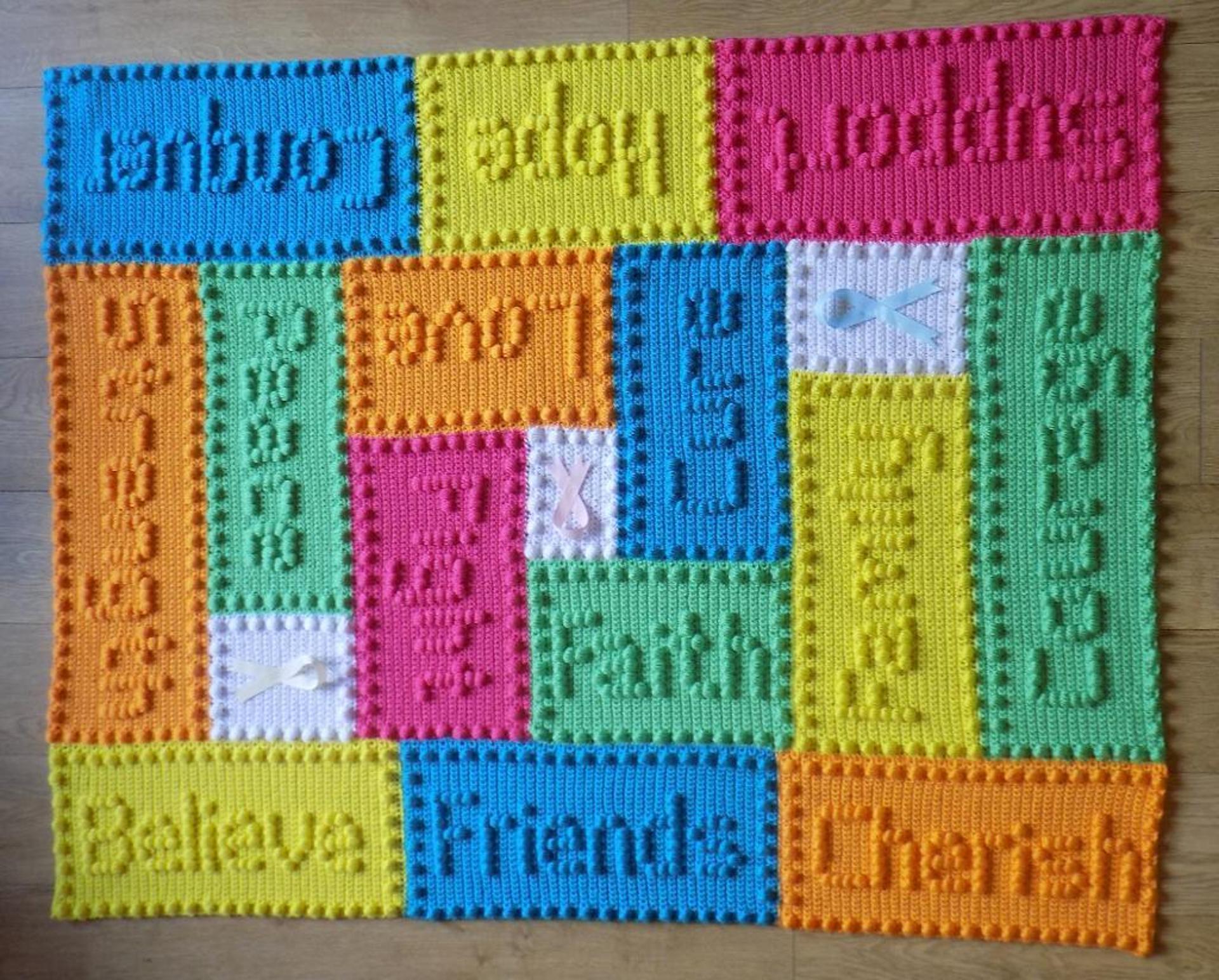 cancer support motifs lap blanket crochet pattern