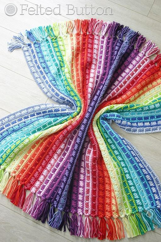 color reel crochet blanket pattern