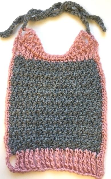 crochet wattle stitch baby bib free pattern