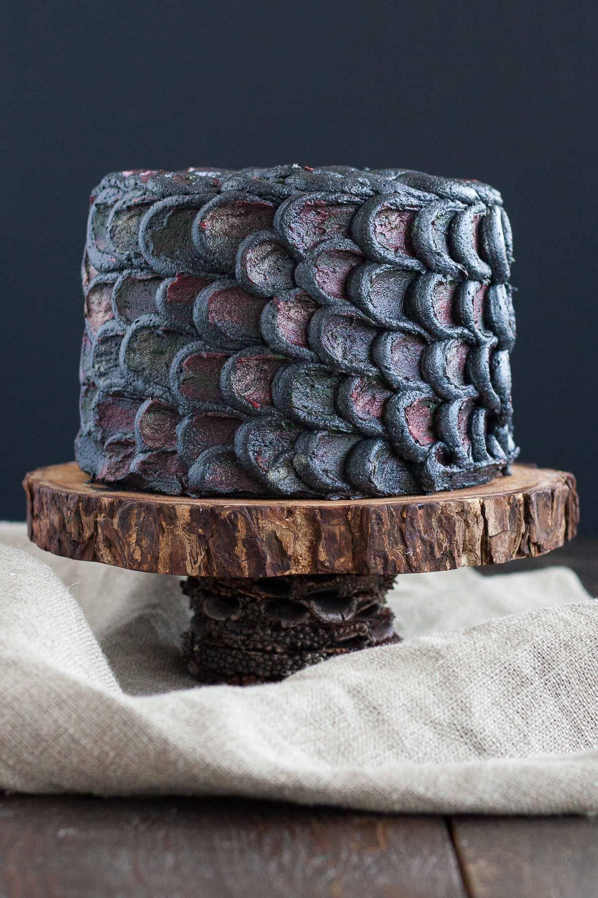 Dragon scale cake