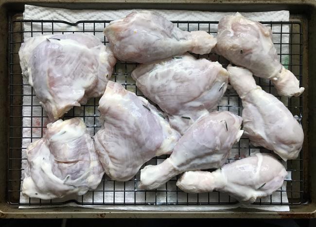 drain buttermilk on chicken