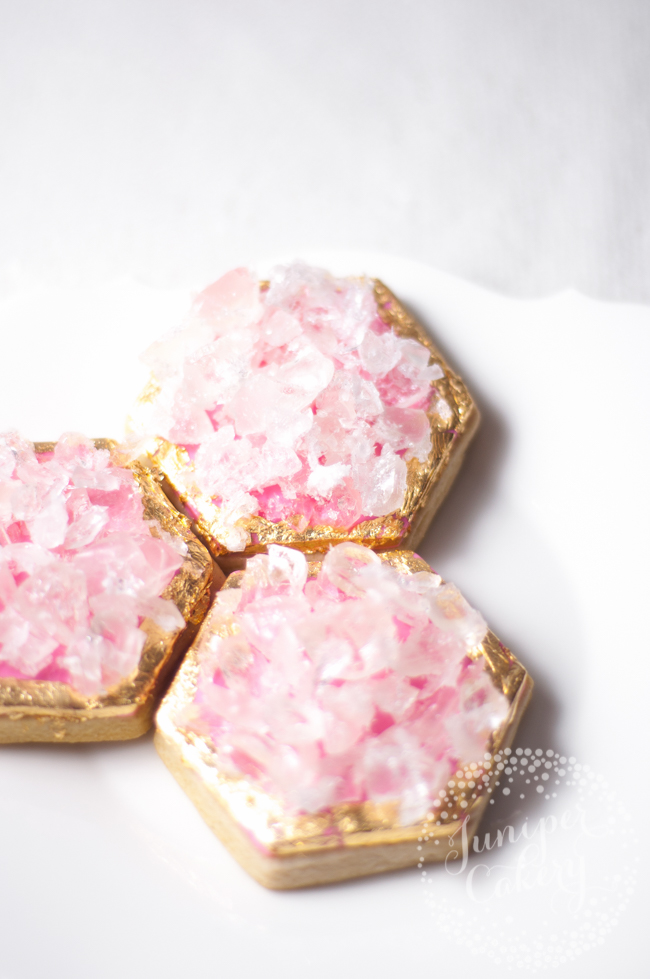 Pink geode cookie tutorial