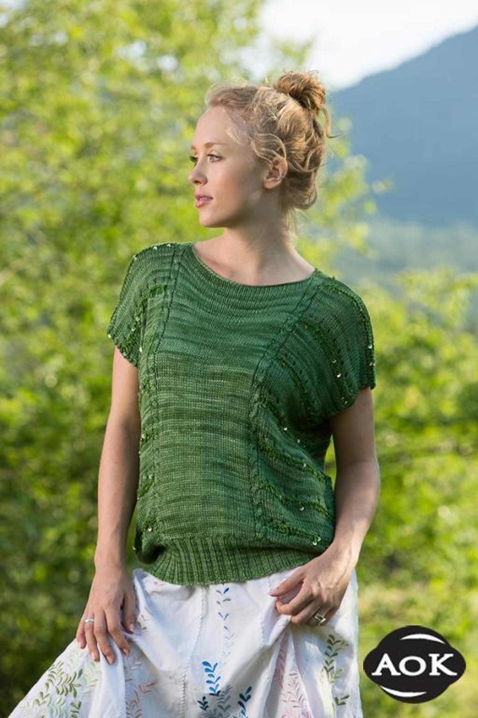 Green Hill Lane Top Knitting Pattern