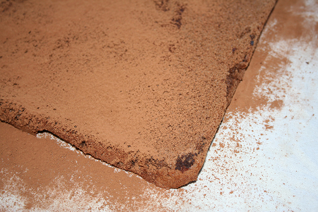 Dust with cocoa powder