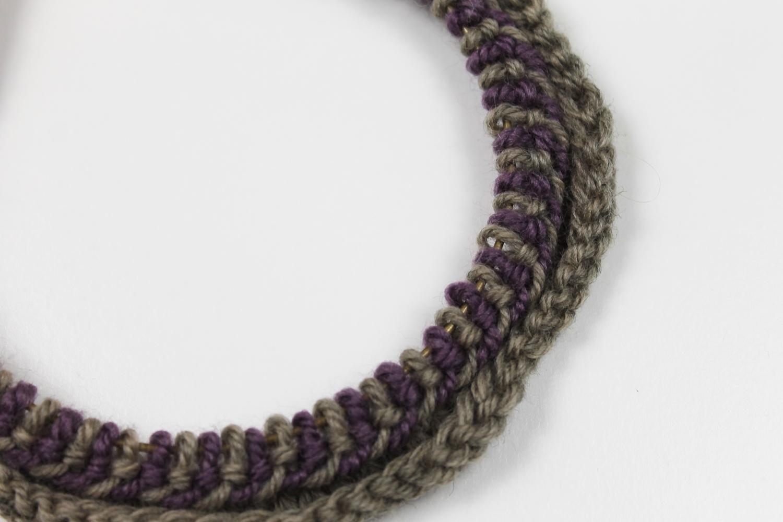 close up of a Latvian braid