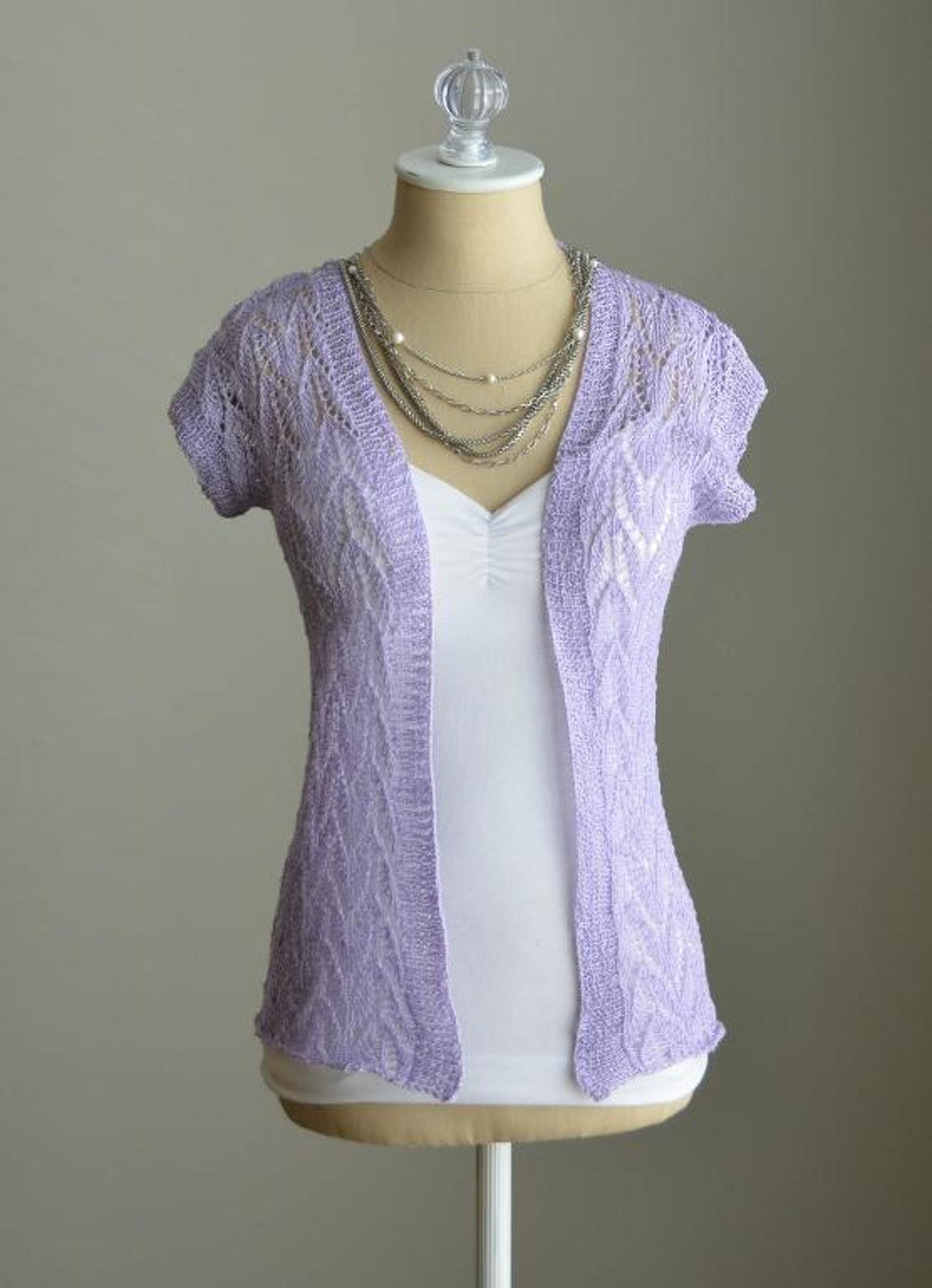 Leaf Lace Cardigan Knitting Pattern
