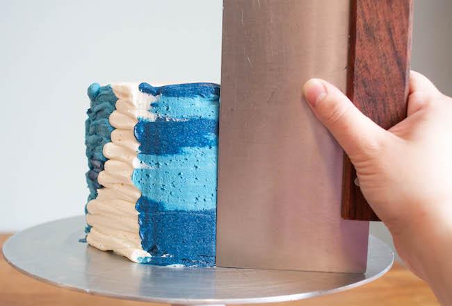 Using a Bench Scraper to Smooth Buttercream | Erin Gardner | Bluprint