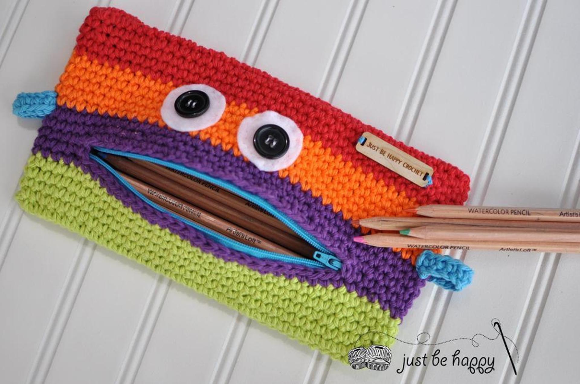 monster pencil case crochet pattern