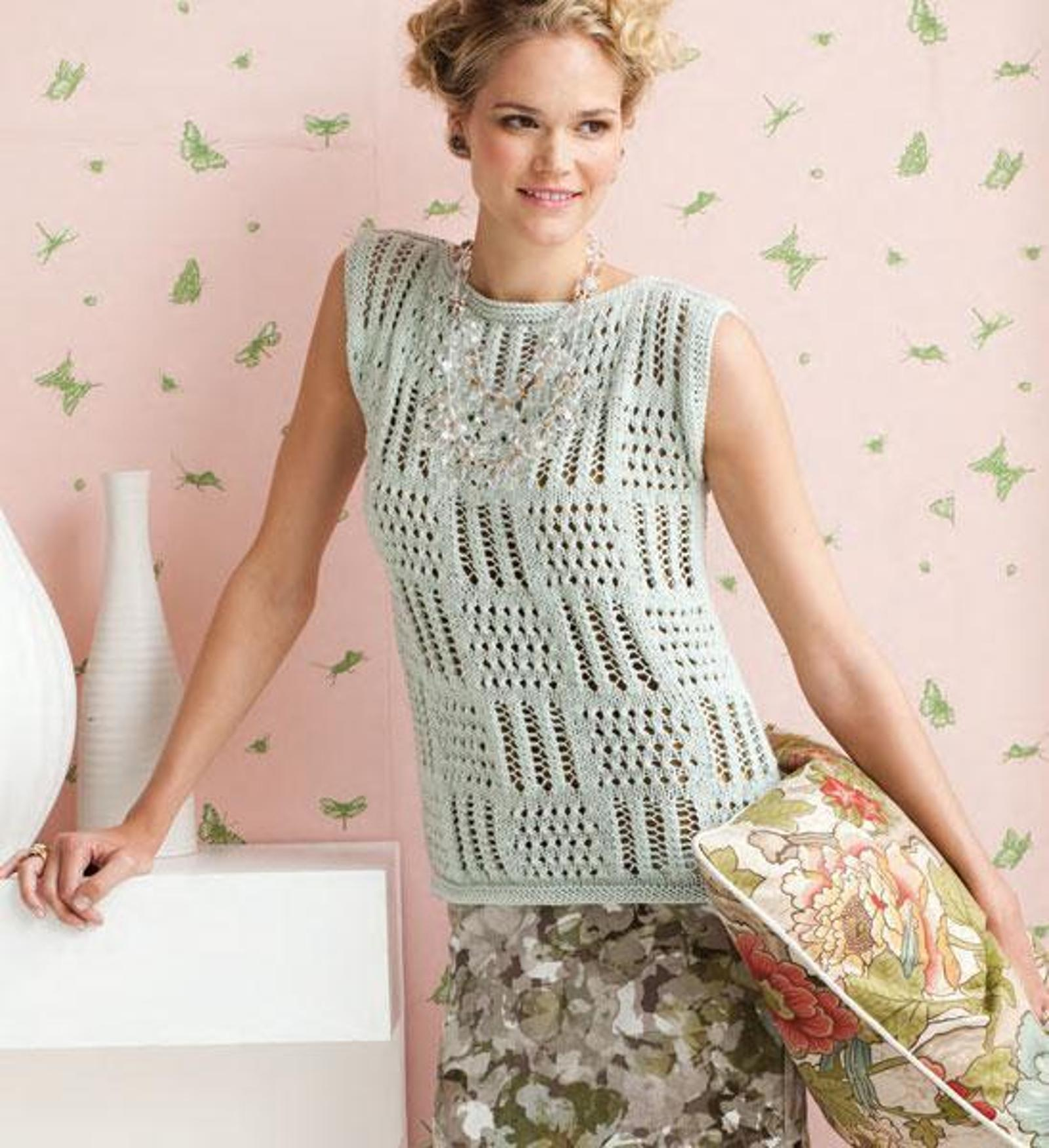Patchwork Lace Top Knitting Pattern