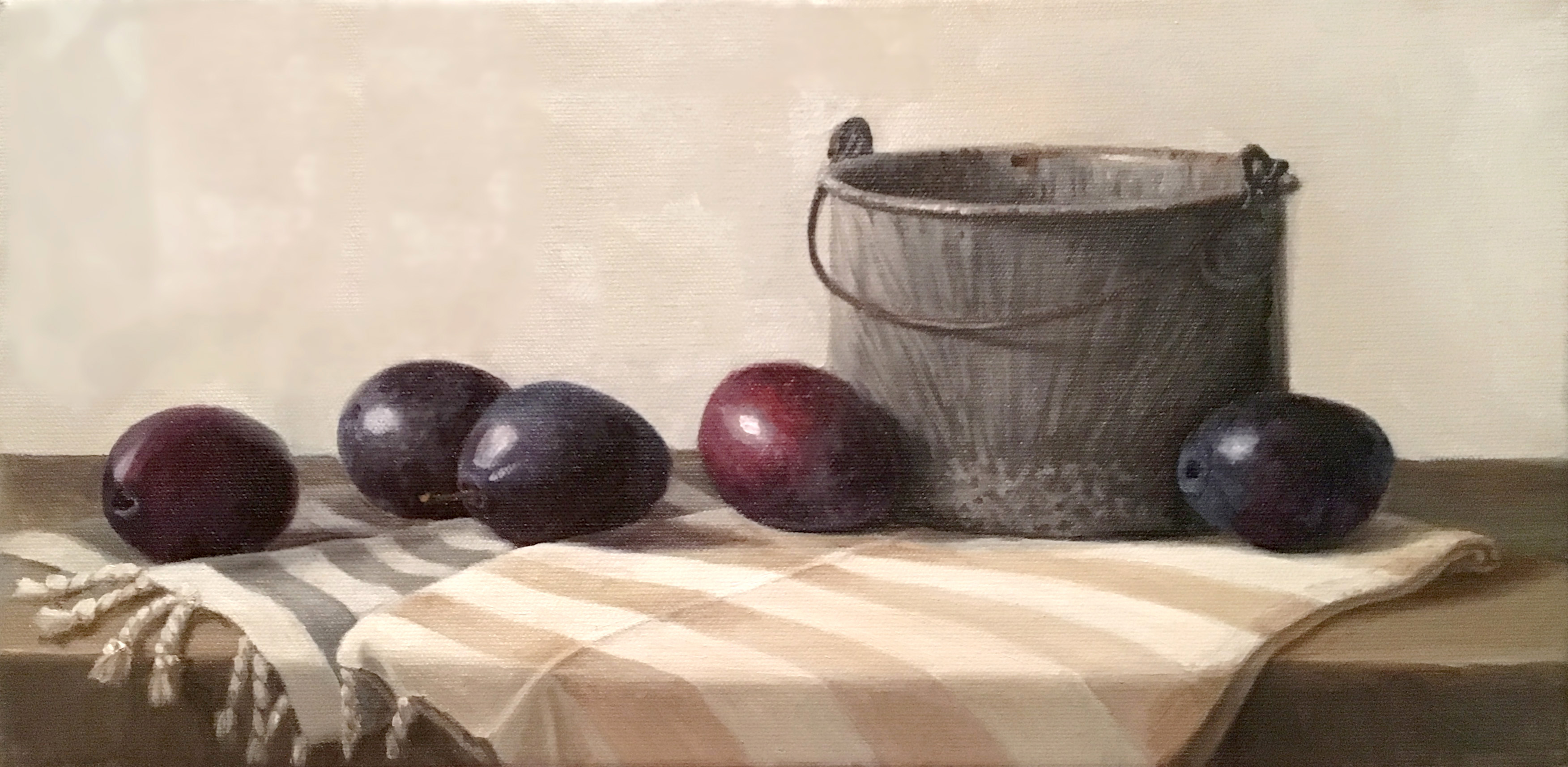 plums in a row