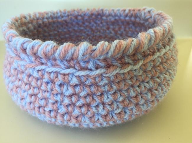 reversible crochet bowl