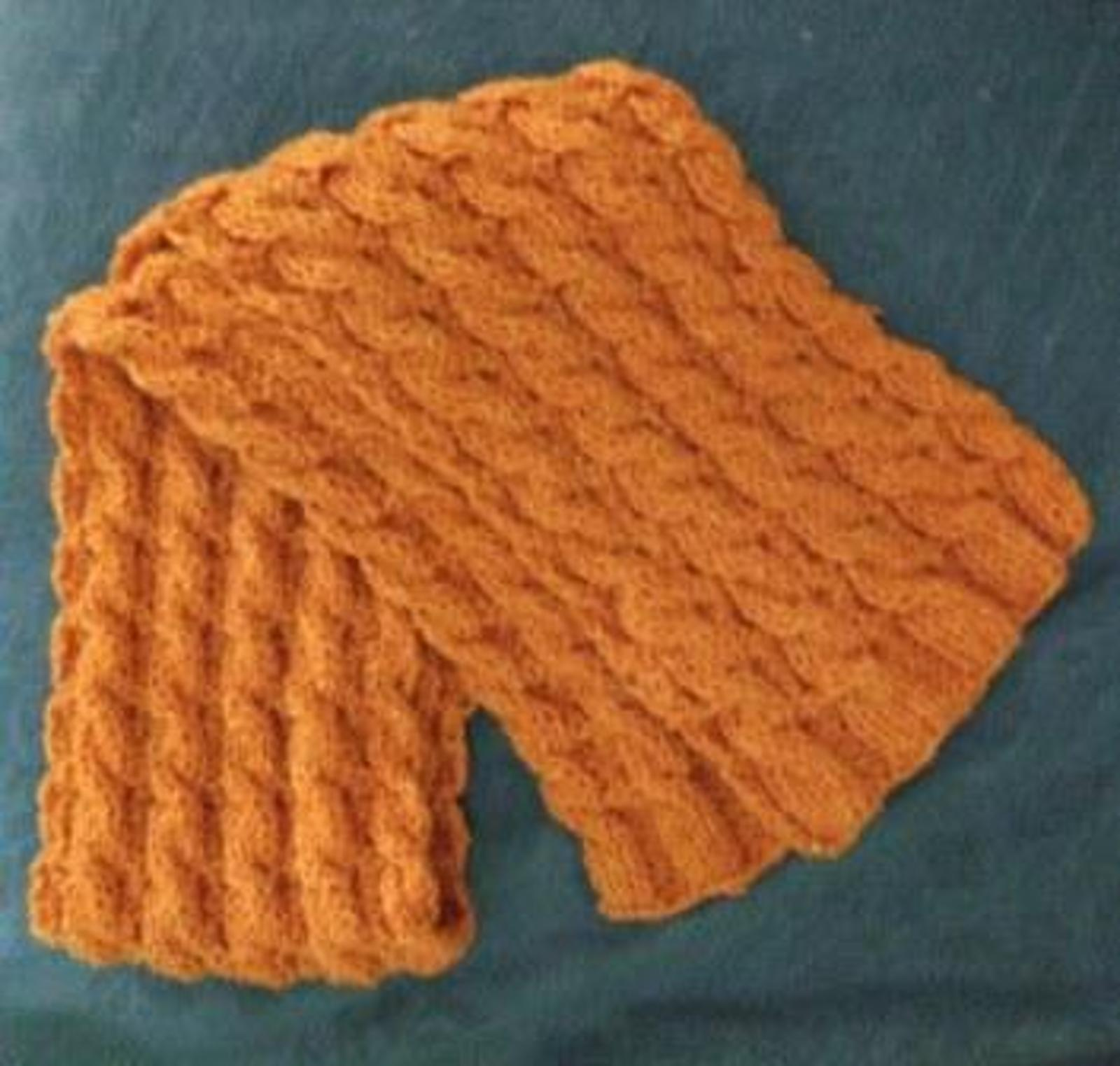 Reversible Cable Neckwarmer Knitting Pattern