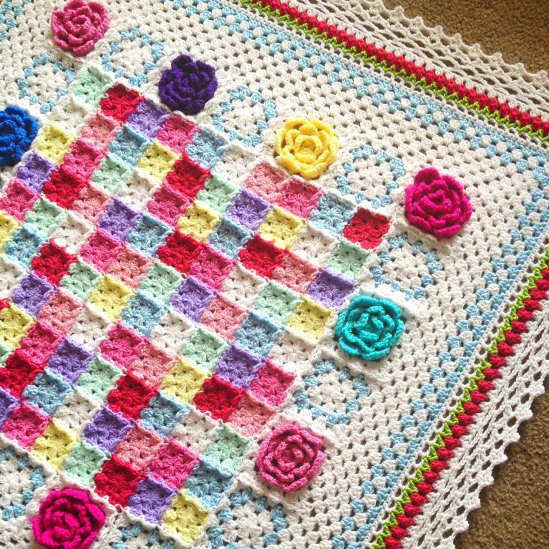 rosa fresca blanket crochet pattern