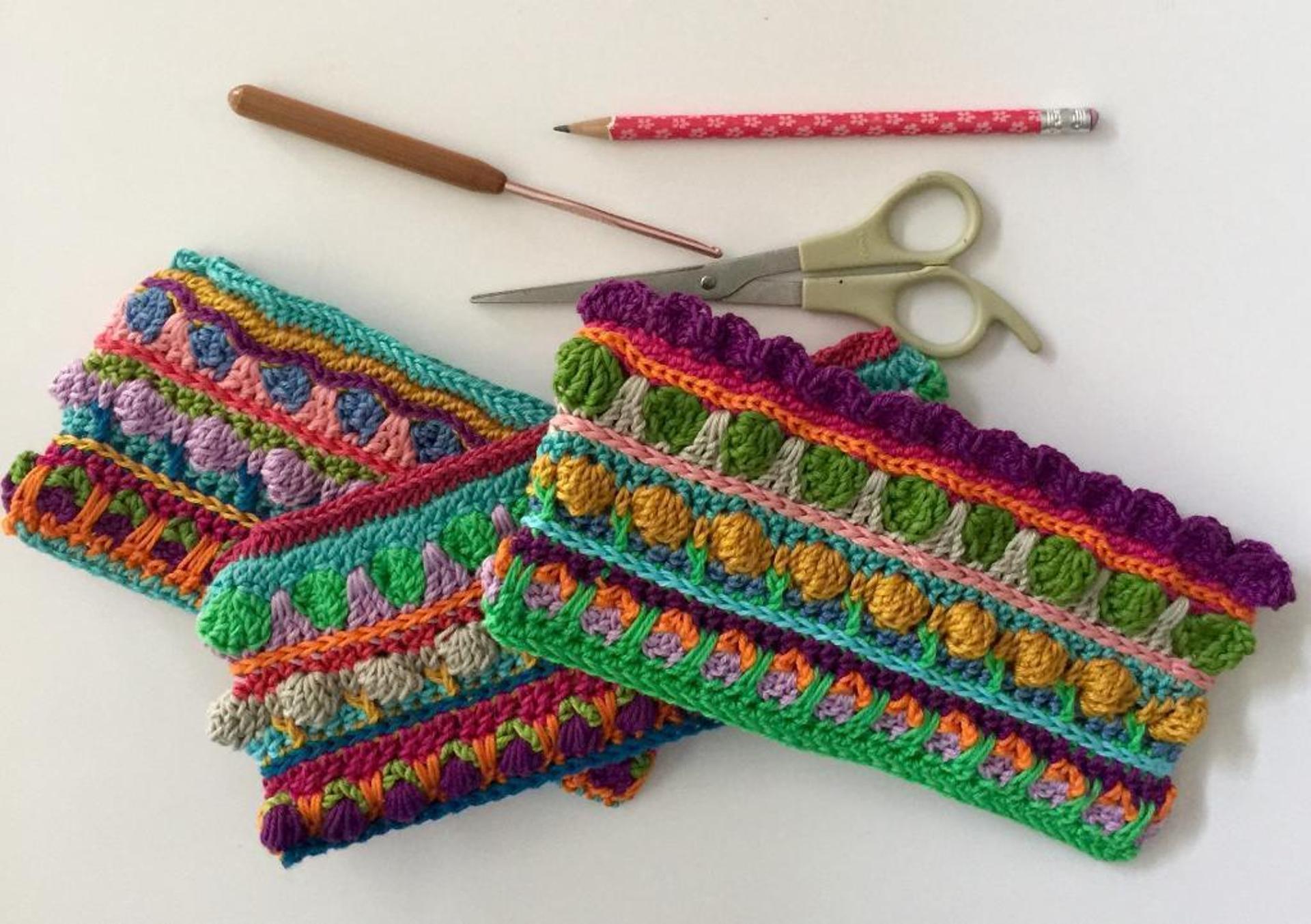 sew free zippered crochet pencil purse