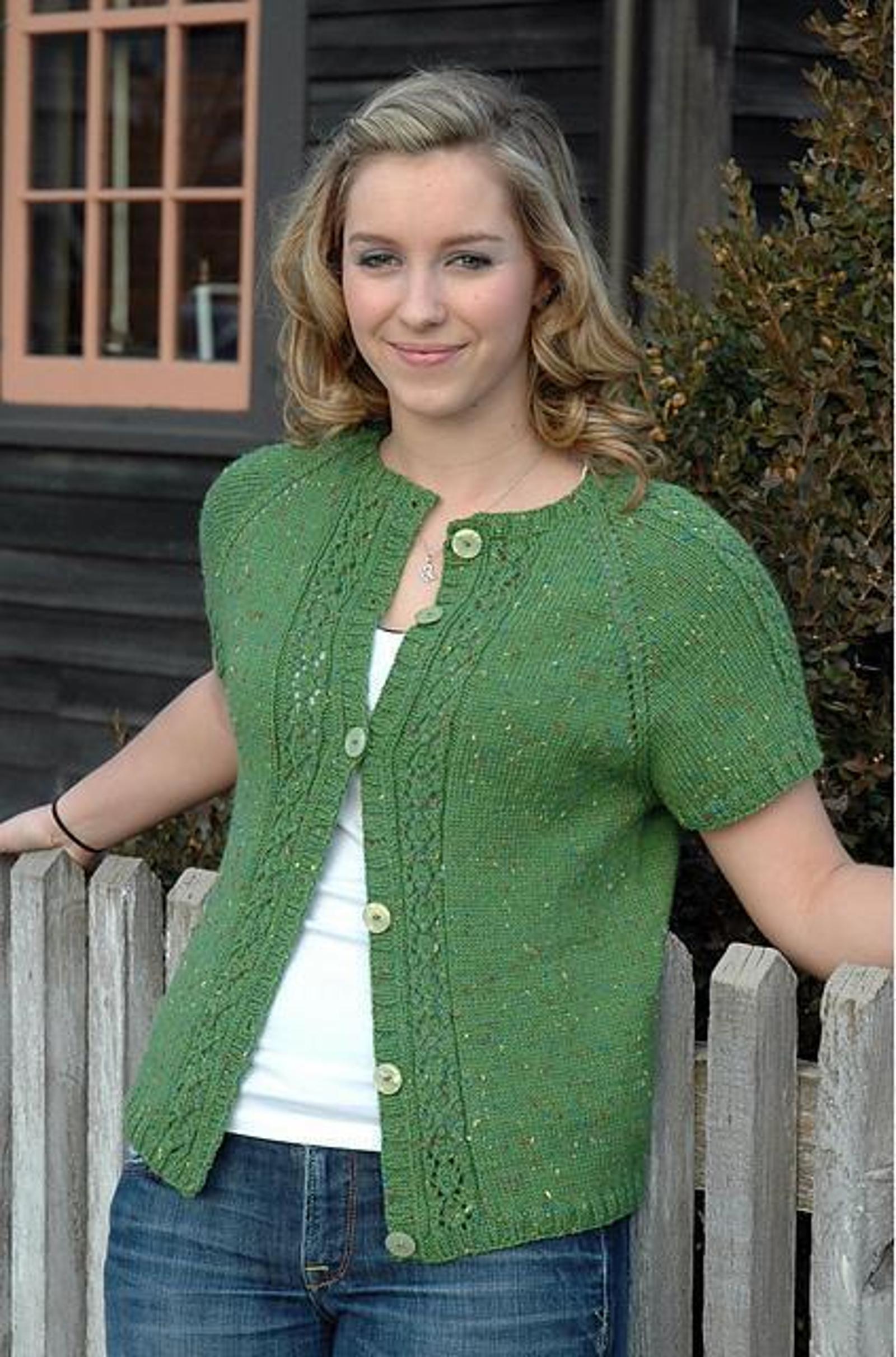Shamrock Cardigan Knitting Pattern