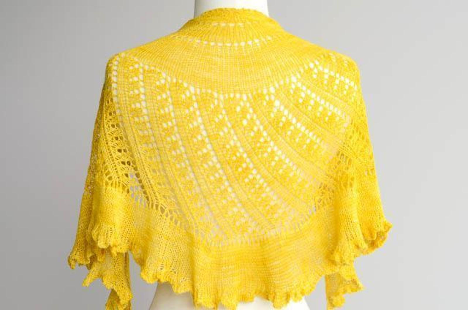 Shattered Sun Shawl Pattern