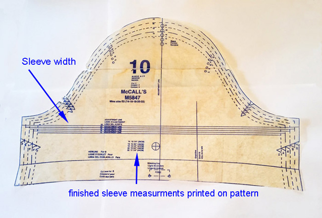 leeve pattern piece bicep measurement