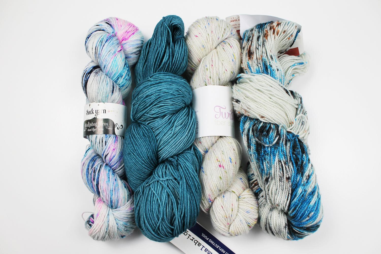 Organizing yarn by weight: sock yarn