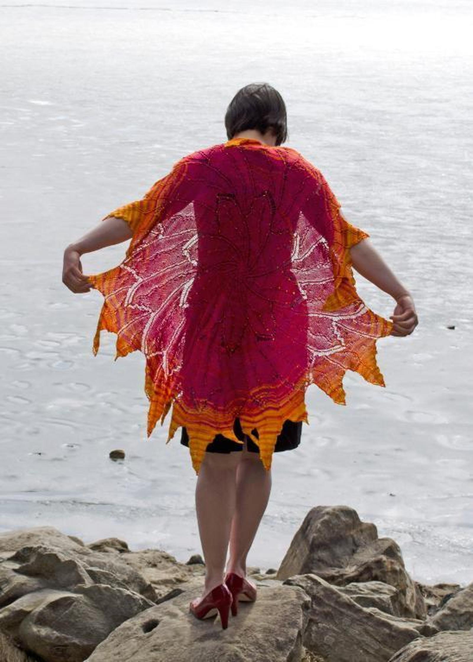 Solar Flare Circular Shawl Knitting Pattern