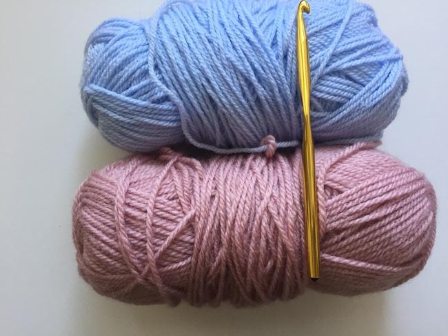 Sprightly Yarn and Crochet Hook