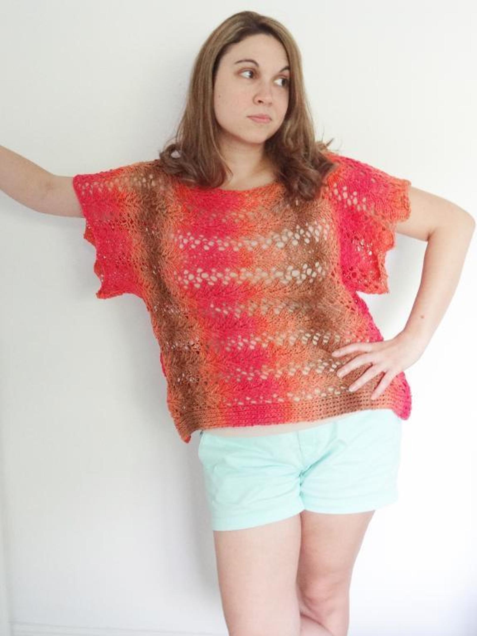 Sun Catcher Tee Knitting Pattern
