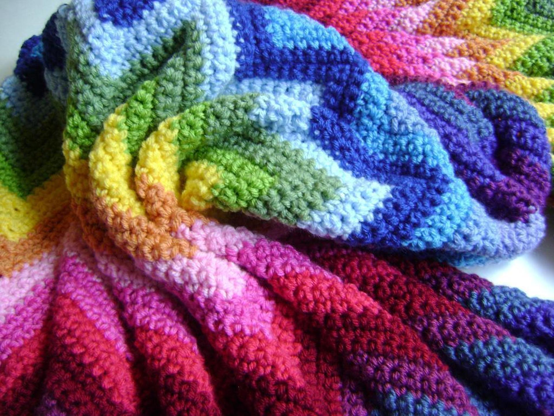 technicolor chevron blanket crochet pattern