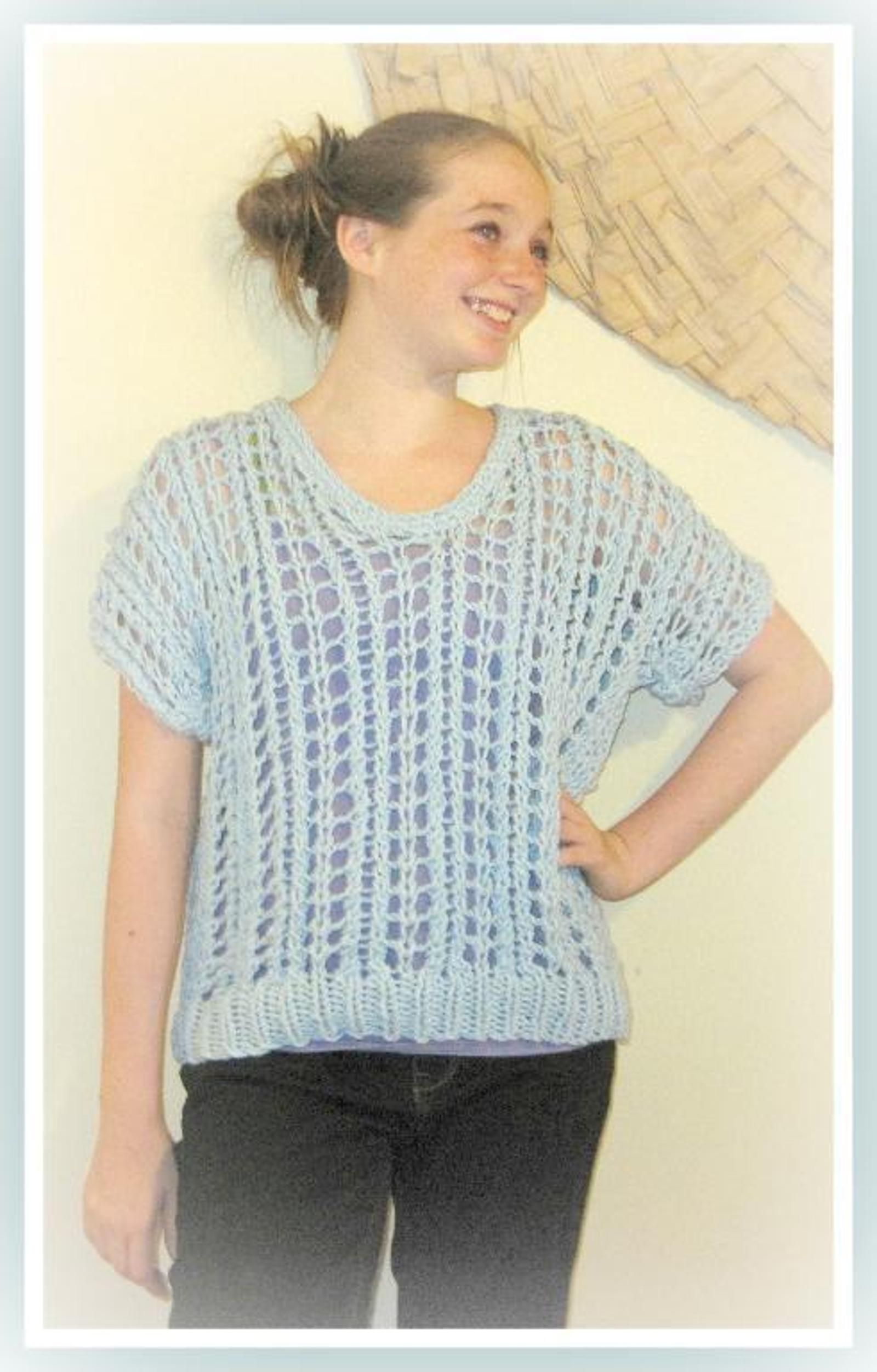 Teen to Adult Spring and Summer Pullover