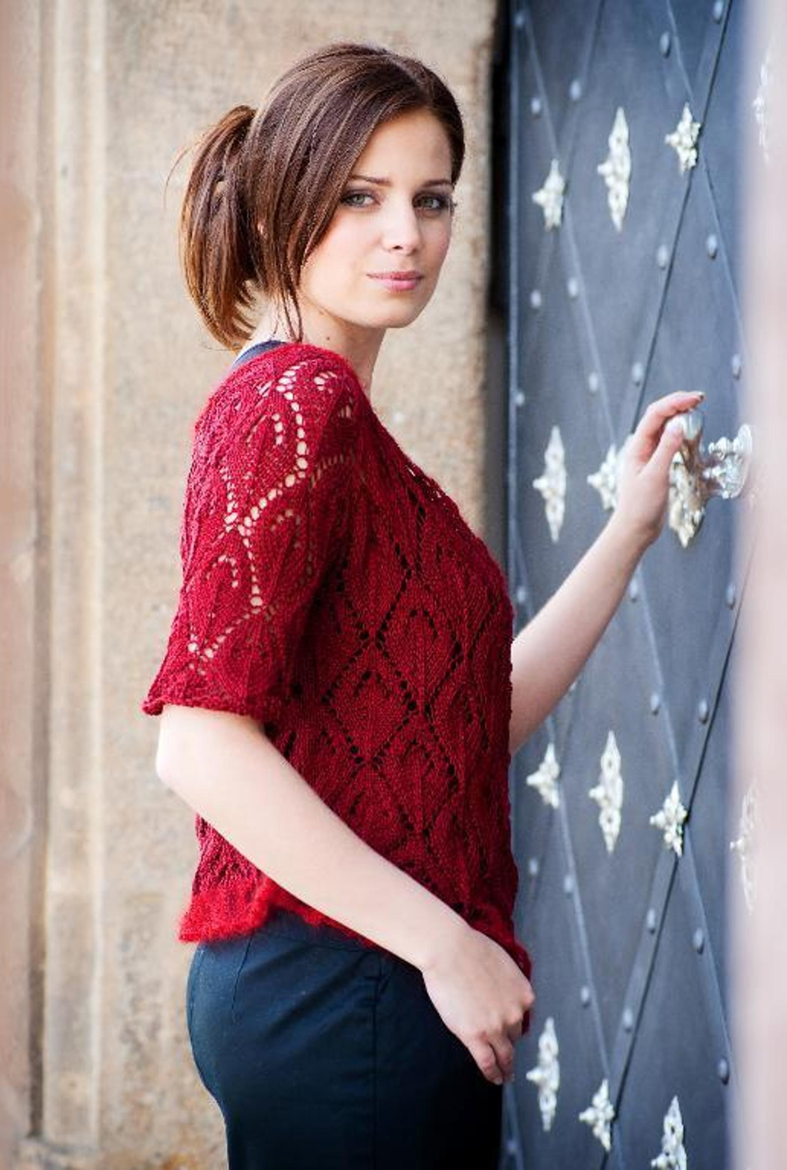 Top Down Lace Cardigan Knitting Pattern