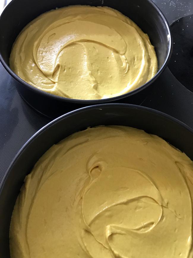 divide into pans