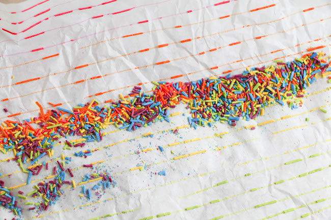 Sprinkles Popping off the Parchment Paper | Erin Gardner