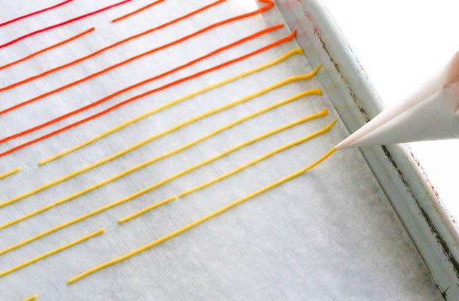 Piping Strips of Sprinkle Paste   Erin Gardner