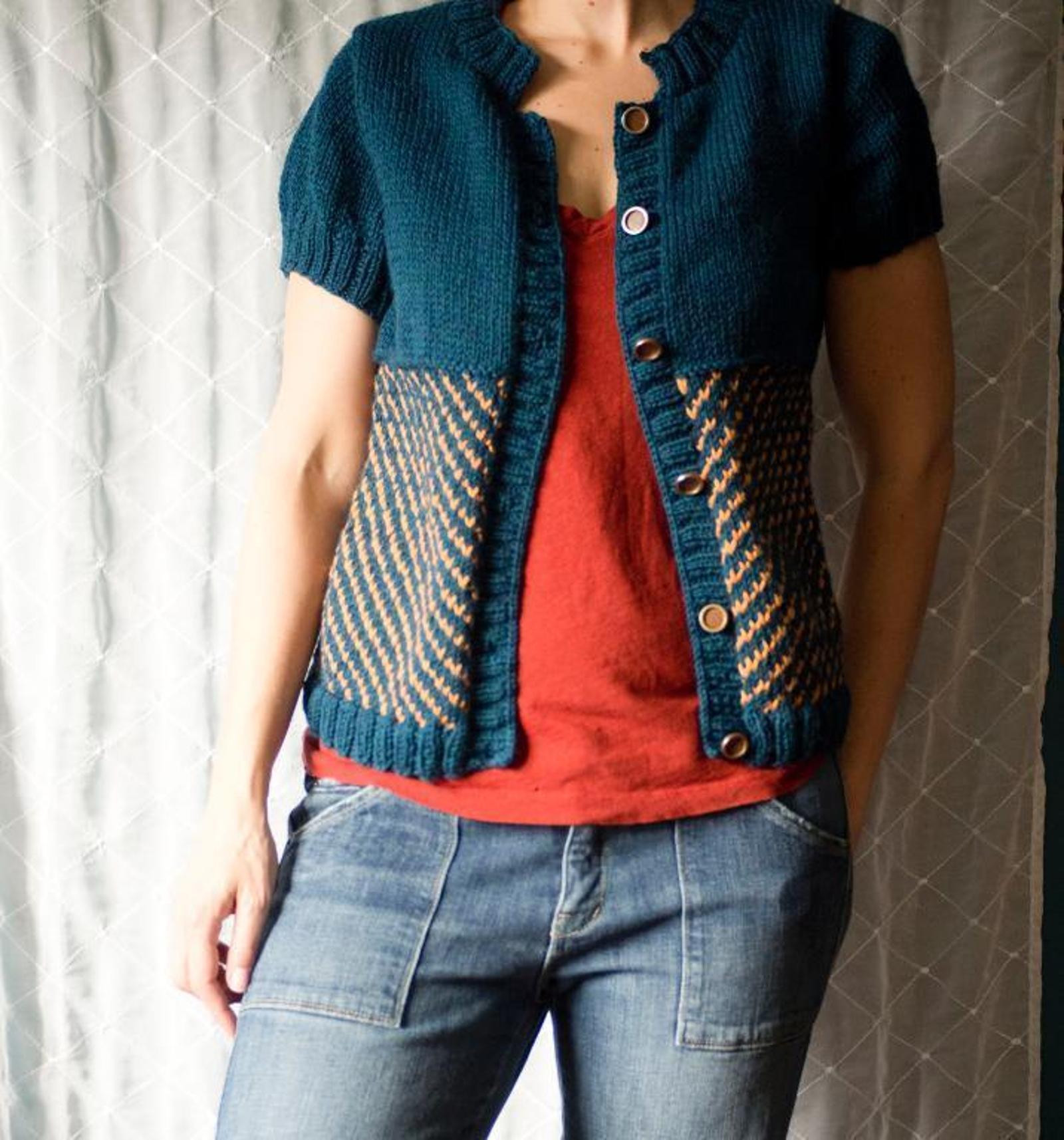 Vintage Cotton Cardigan Knitting Pattern