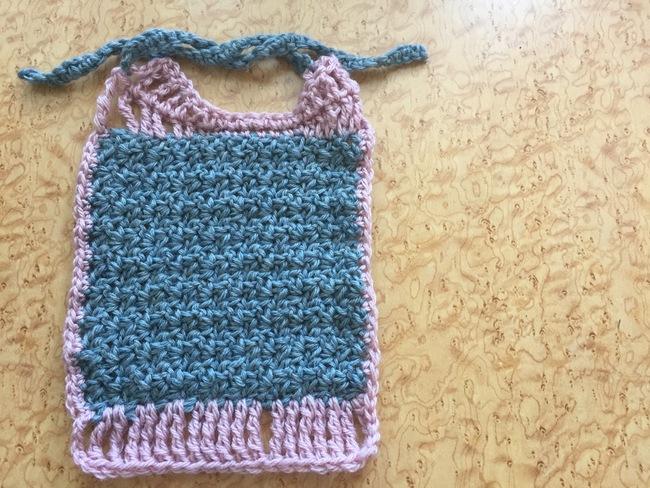 wattle stitch crochet baby bib free pattern