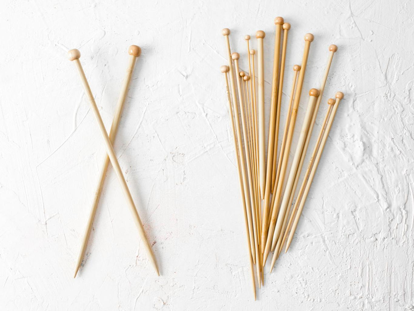 Straight Bamboo Knitting Needles