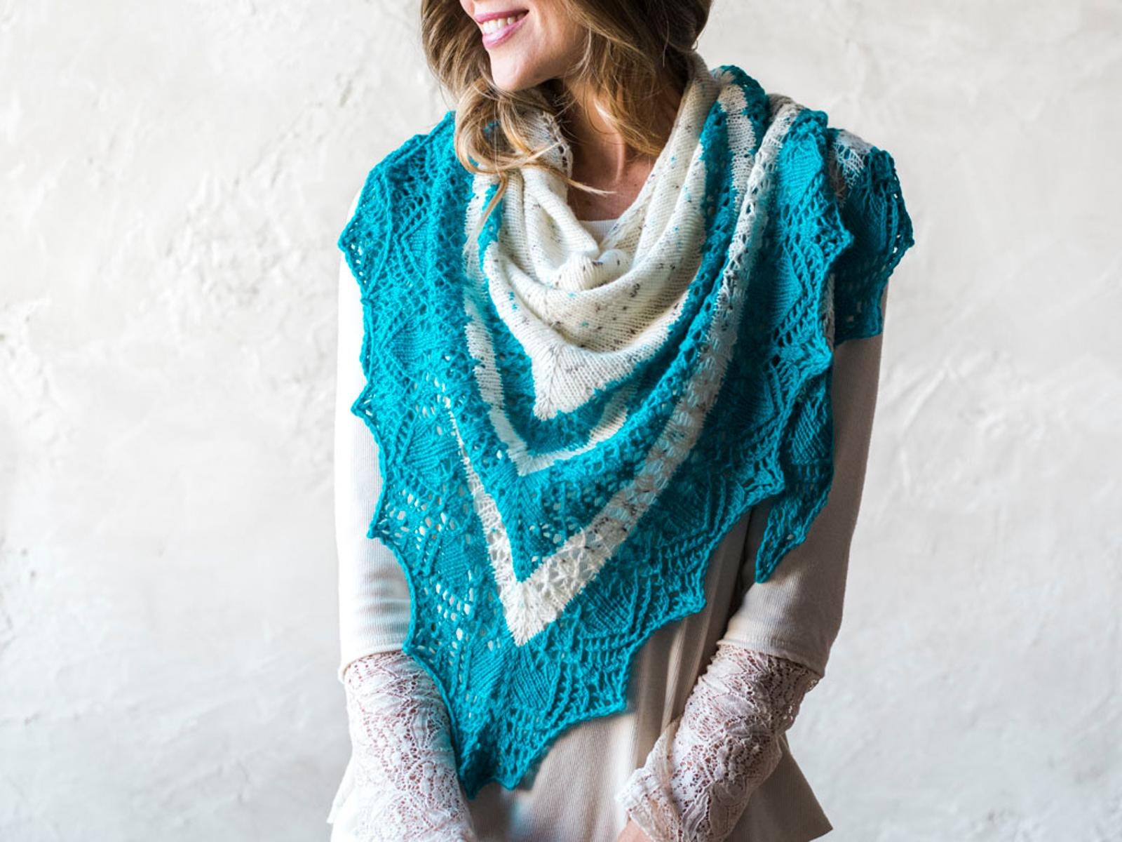 Speckle Tonic Triangle Shawl