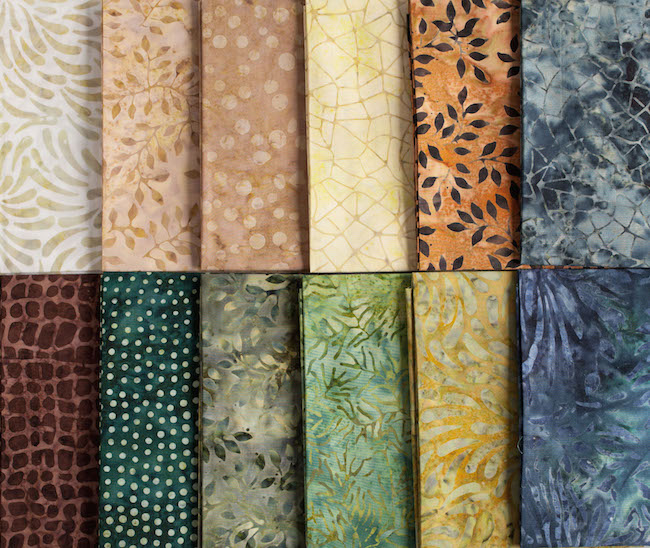 Boundless Batiks Fabrics for Canyon Creek Quilt