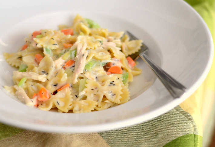 Farfalle or bowtie noodles