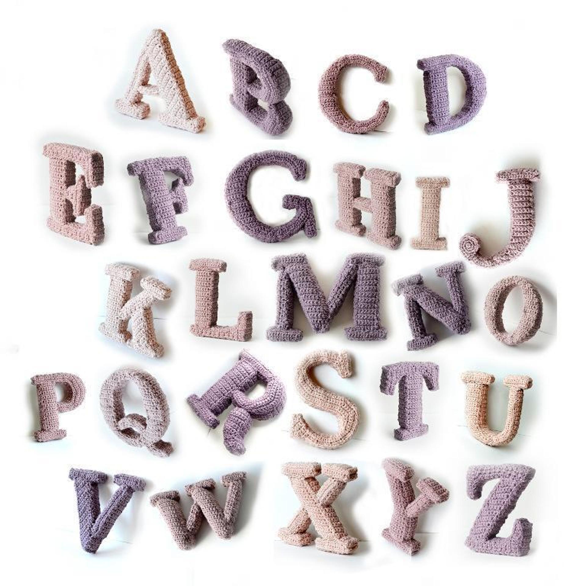 3d crochet alphabet pattern