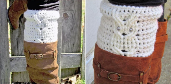 Crochet boot cuff pattern Own boot cuff