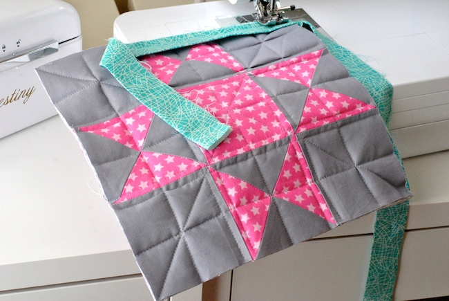 Sewing Binding on quilt top