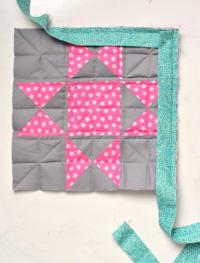 Attaching quilt binding