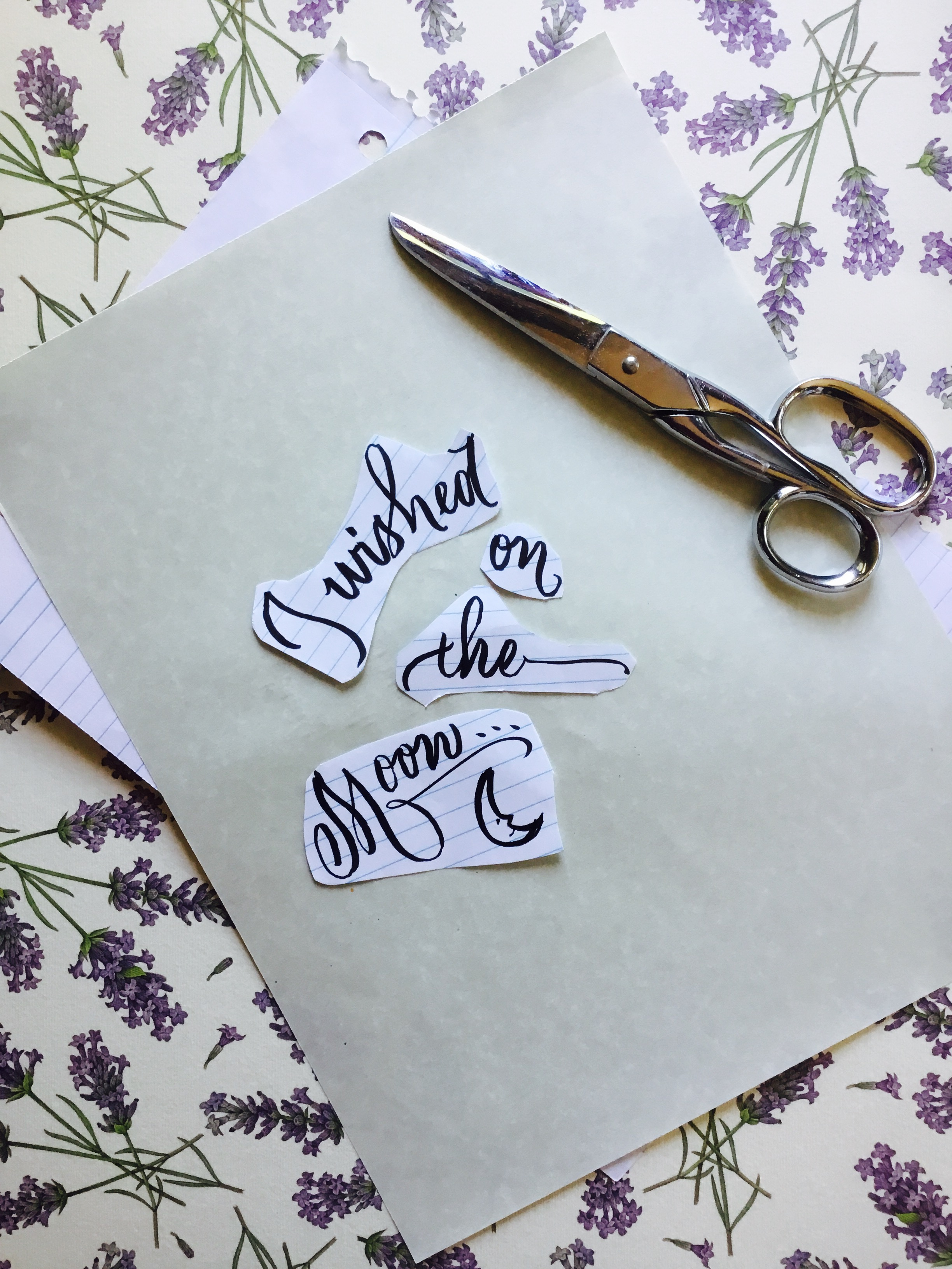 Cut up calligraphy words