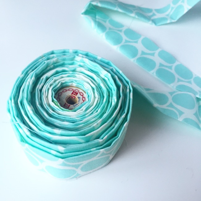 Roll of Blue Quilt Binding Tape