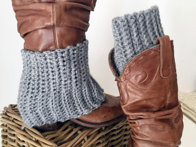 Mary and Jenna crochet boot cuff pattern