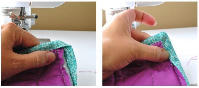 turning quilt binding corner